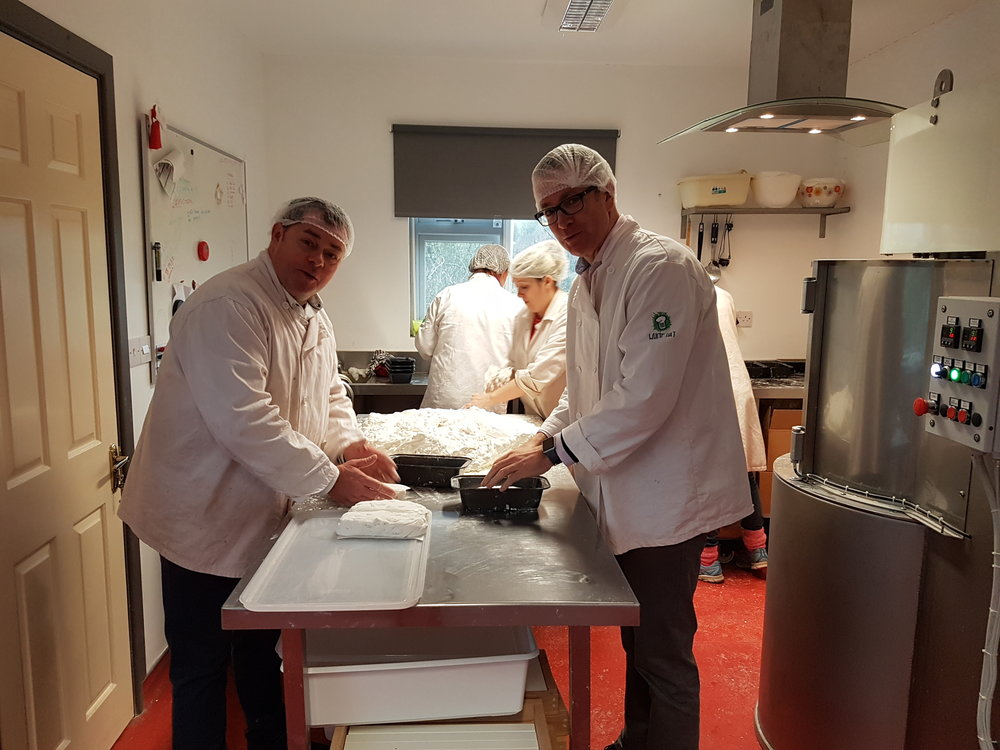 Our year ended on a high with Neven and Diarmuid helping in the kitchen