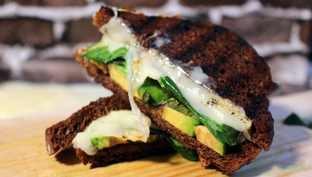 Spinach Avocado Grilled Cheese Sandwich