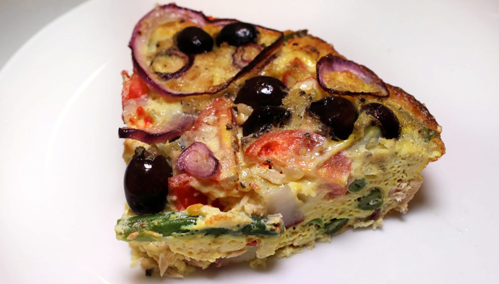 Crustless Nicoise Quiche