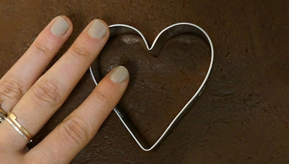 Blood Orange Chocolate Heart Cookies