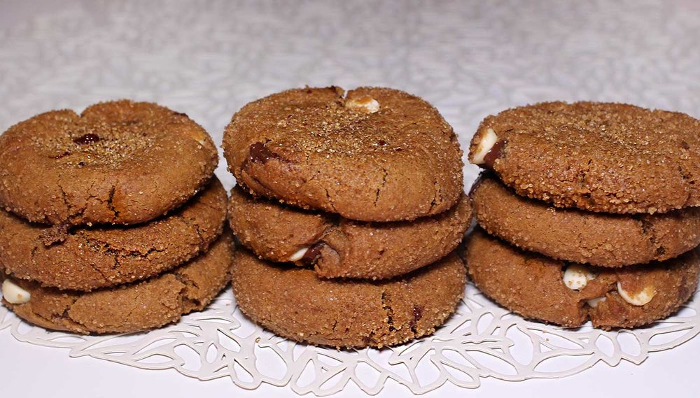 Chewy Chocolate Chunk Gingersnap Cookies