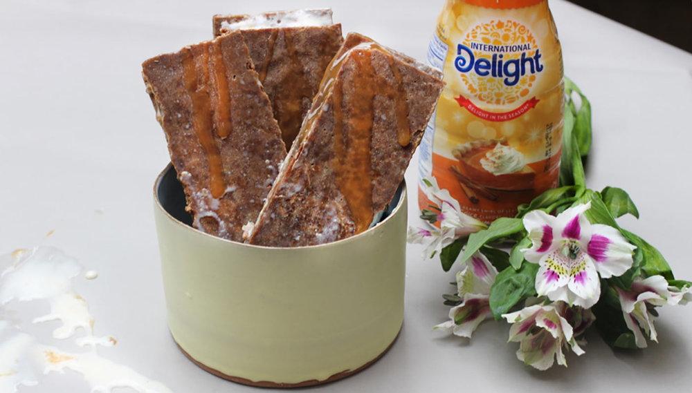 Gingersnap Pumpkin Pie Spiced Ice Cream Sandwiches