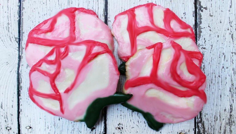 Rose Water Rose Sugar Cookies
