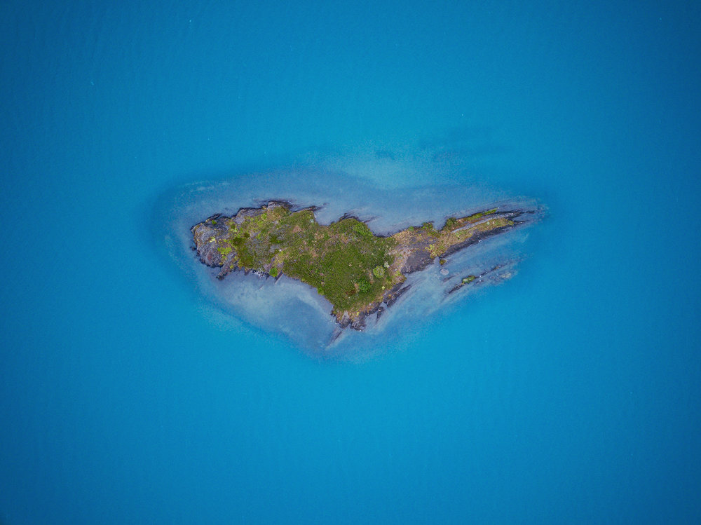 Island drone photo taken by Franklin Williams of  @OutsiderSkies