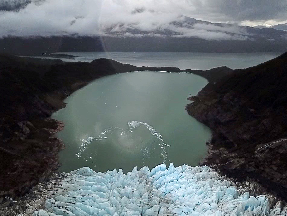 Balmaceda Glacier drone photo taken by Franklin Williams from  @OutsiderSkies
