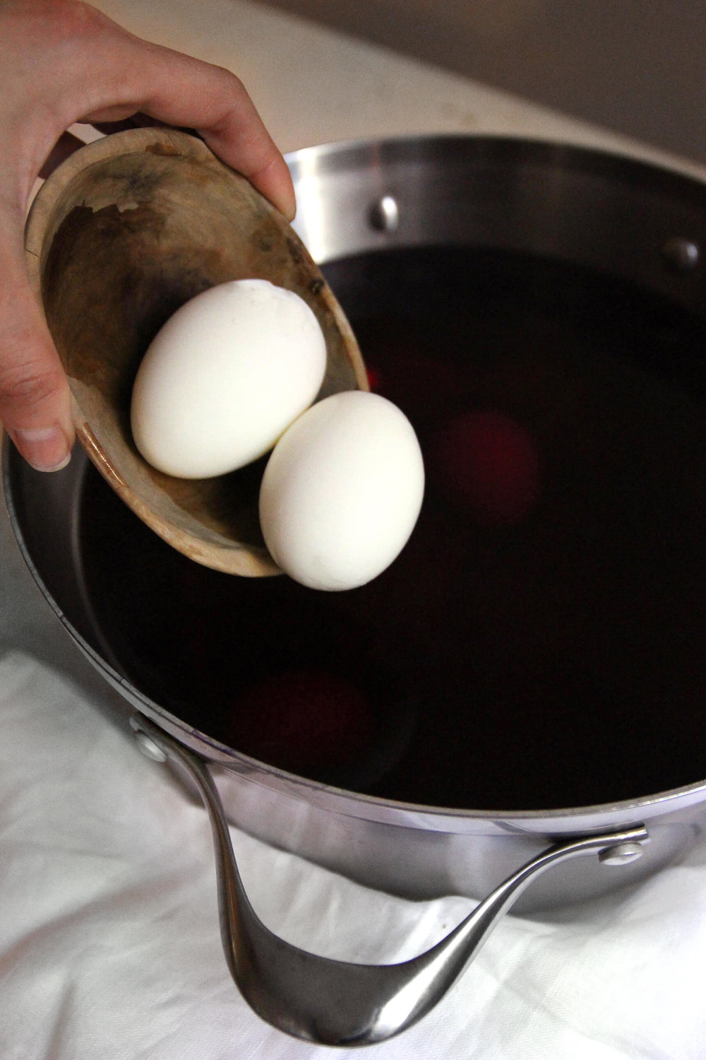 Naturally Dyed Purple Deviled Easter Eggs