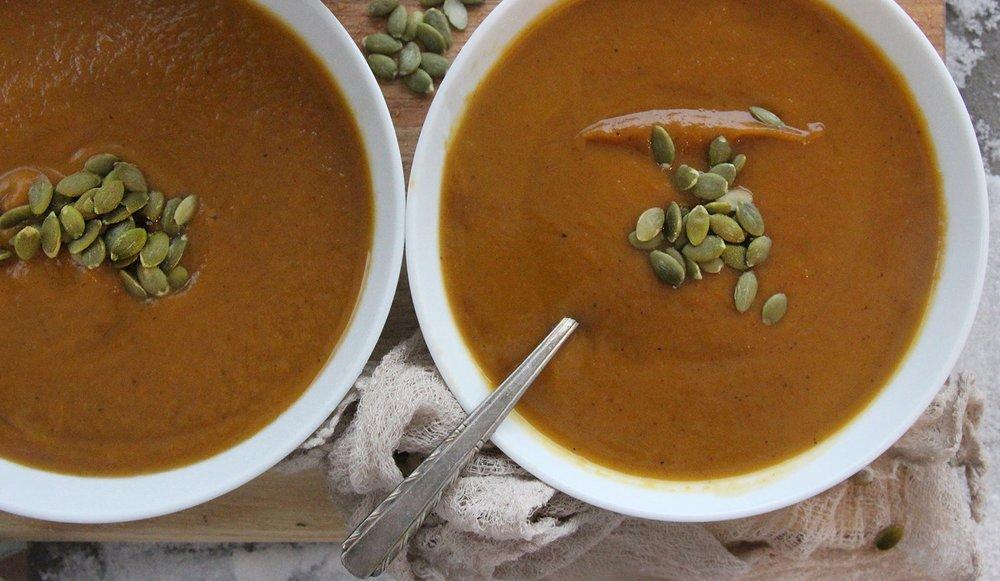 Curry Maple Butternut Squash Soup