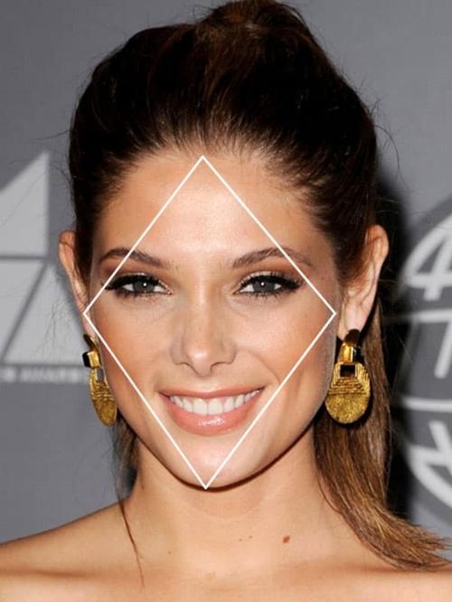 Ashley Greene heeft een diamantvormig gezicht. Bron: Pinterest