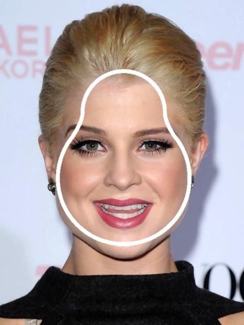 Kelly Osbourne heeft een peervormig gezicht