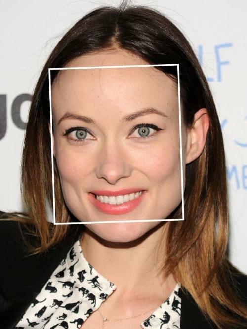 Olivia Wilde heeft een vierkant gezicht. Bron: Pinterest
