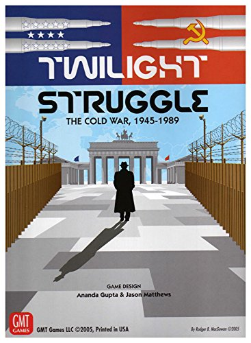 Board Games - I enjoy a variety of strategy games.In my youth, I played chess a lot. Eventually, I became a Master. I don't play competitively, but I still love the game and follow top level play.Twilight Struggle is one current favorite. This Cold War game lends itself to online play with discrete, alternating, non-interactive moves.