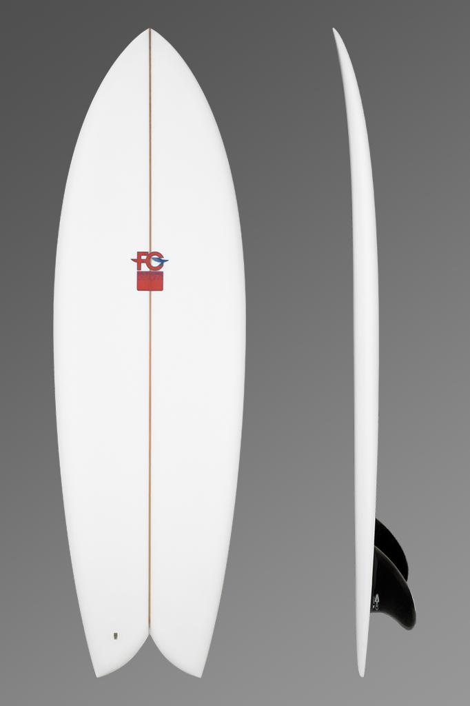 FCD Surfboards Shortboard Fish Deck + Rocker Profile