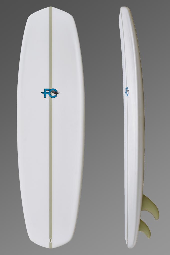 FCD Surfboards_Kiteboard_Blunt_Deck + Rocker Profile-Grey.png