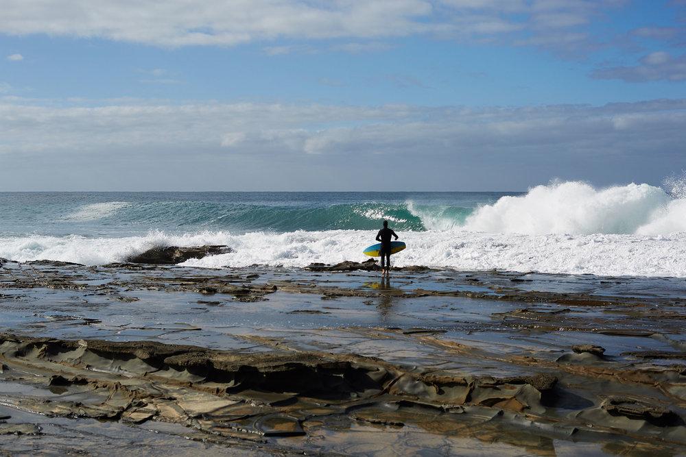 Dan Ross eyes his Southern Ocean prize.  Photo: Jon Frank