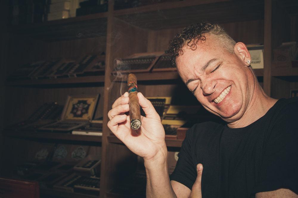 "Comedian Christopher ""Kid"" Reid at Silverleaf Cigar Lounge in Fort Worth, TX"