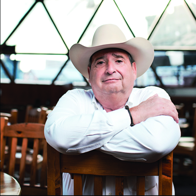 Al Micallef at his restaurant in Downtown Fort Worth, The Reata