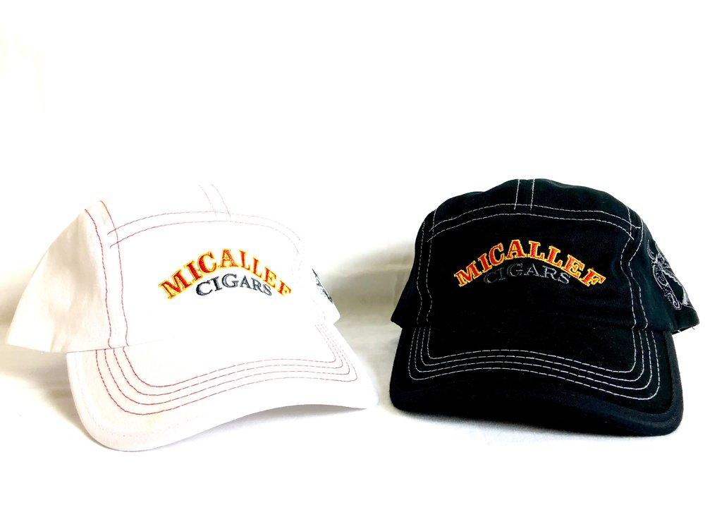 Micallef Cap White & Black, $25.00