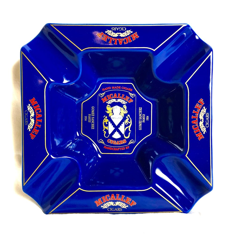 Micallef Ceramic Ashtray Blue, $50.00