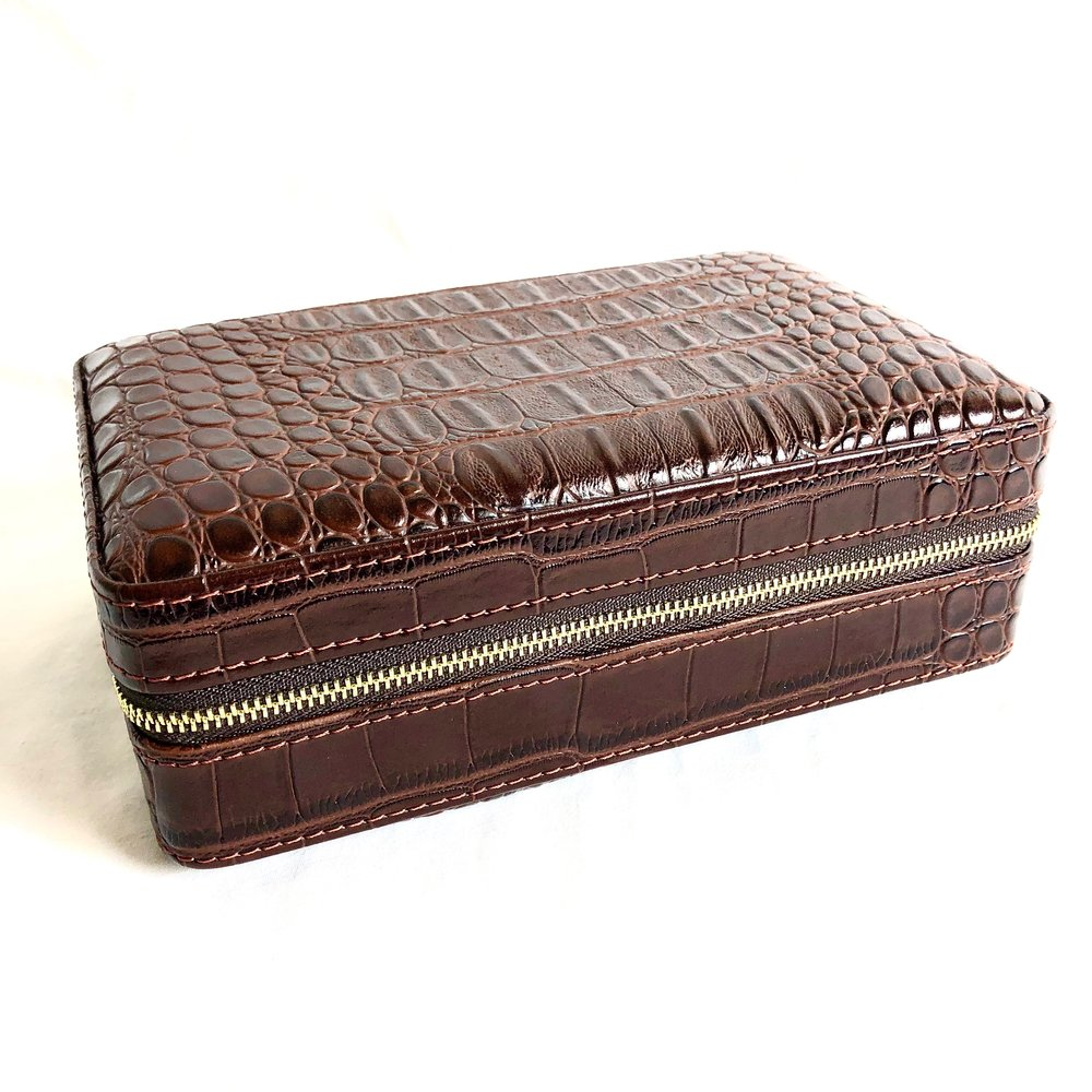 Leather Travel Humidor Brown (inside), $100.00
