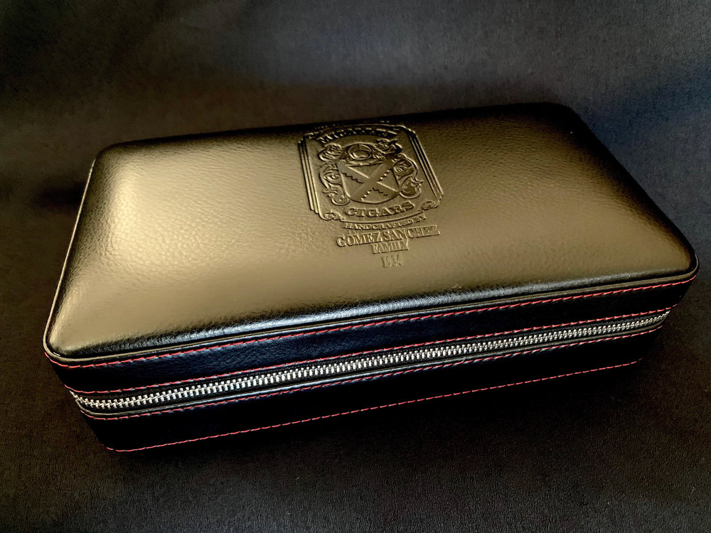 Leather Travel Humidor Black (outside), $100.00