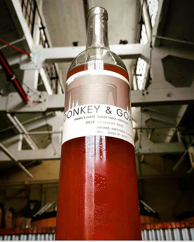 Next Tuesday, April 16th, Tracey Brandt, winemaker and proprietor of @donkeyandgoat winery will pour 8 of her wines table side (including a surprise from her personal cellar) to pair with @jeremycooks one-night only tasting menu. Wines will include this ruby-red beauty, Isabel's Cuvée which is a Grenache Gris rose. 5 courses, 8 wines, $125 + tip and tax. So many treats. Book via our website or @opentable. Link in bio. Thanks to @jennyfrancois for the vinous love. 📷 courtesy of @donkeyandgoat #theeddynyc #eastvillage #donkeyandgoat #winedinner #traceybrandt #isabelscuvee #jennyandfrancois #wine #naturalwine #californiawine #californianaturalwine