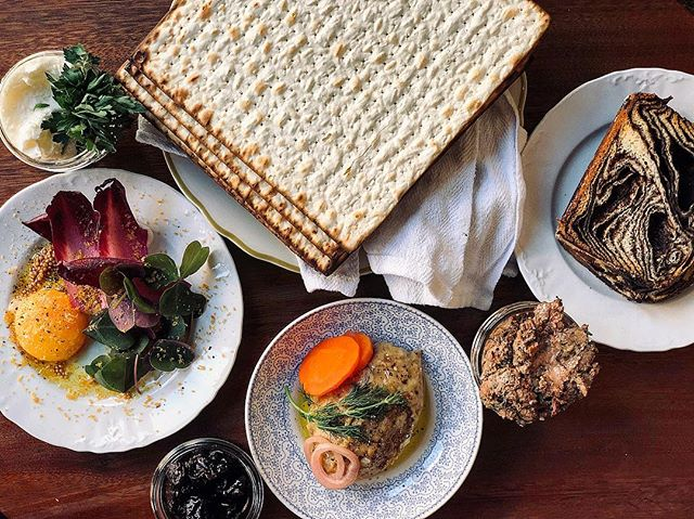 Happy Passover! We are offering a Passover inspired menu for three nights (April 19-21). 4 courses for $65. Highlights include house made charoset, matzoh ball soup with schmaltz, pistou and chive blossoms, arctic char with sorrel, dill and asparagus and lamb with apricot and green chickpeas. A la carte options will also be available. Link to menu and reservations in bio. #happypassover #passover #matzah #matzahballsoup #schmaltz #charoset #manishevitz #chagsameach