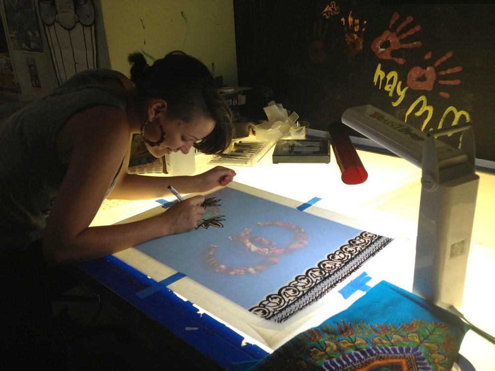 "Tanya ""NenaSoulFly"" Melendez creating film positives, 2012"