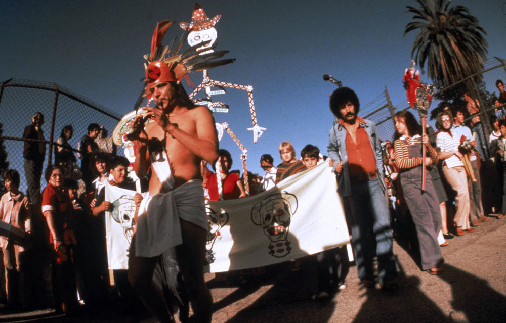 Dia de los Muertos Procession 1977, Evergreen Cemetary, Boyle Heights, CA