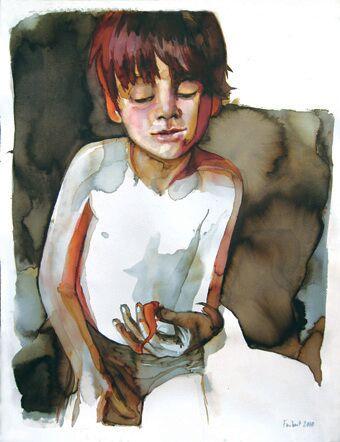 Boy Holding Newt
