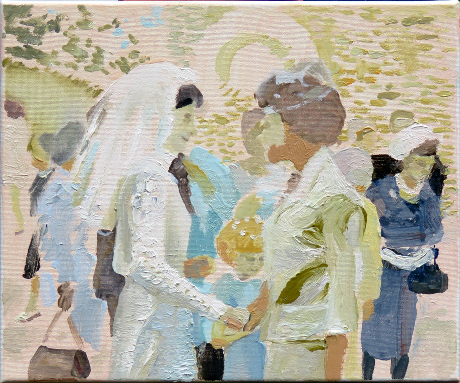 'Margaret-Ann's wedding', oil on canvas, 30 x 25cm