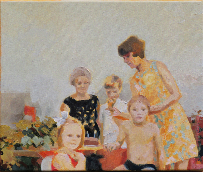'Robert's birthday', oil on canvas, 30 x 25cm
