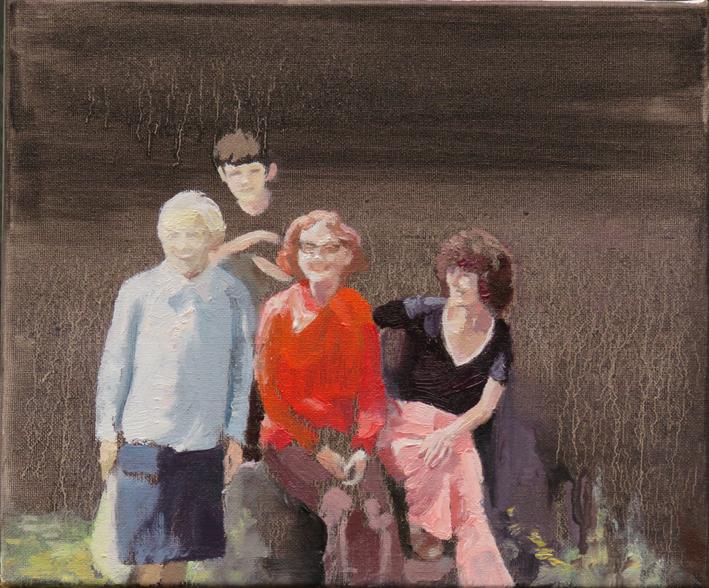 'Aberdauddwr' oil on canvas, 30cm x 25cm
