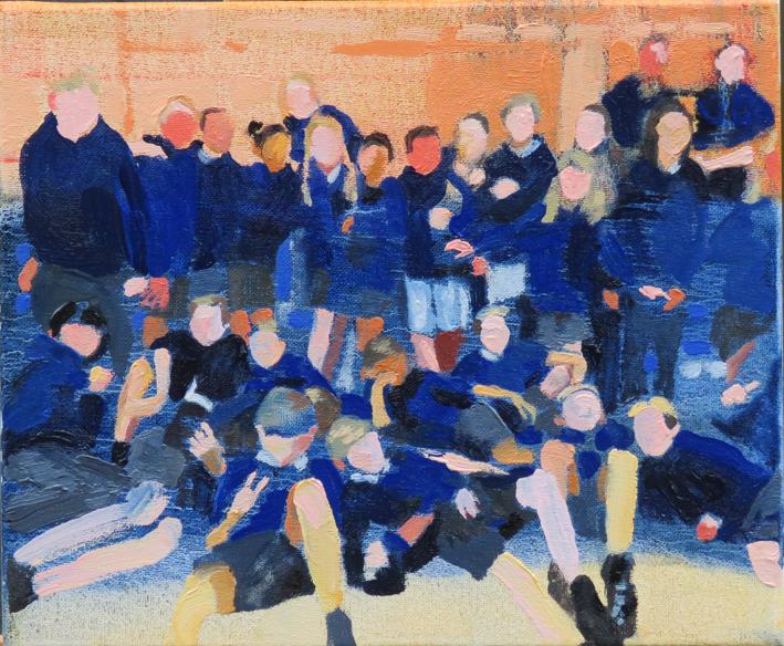 Last day of school, oil on canvas, 30cm x 25cm