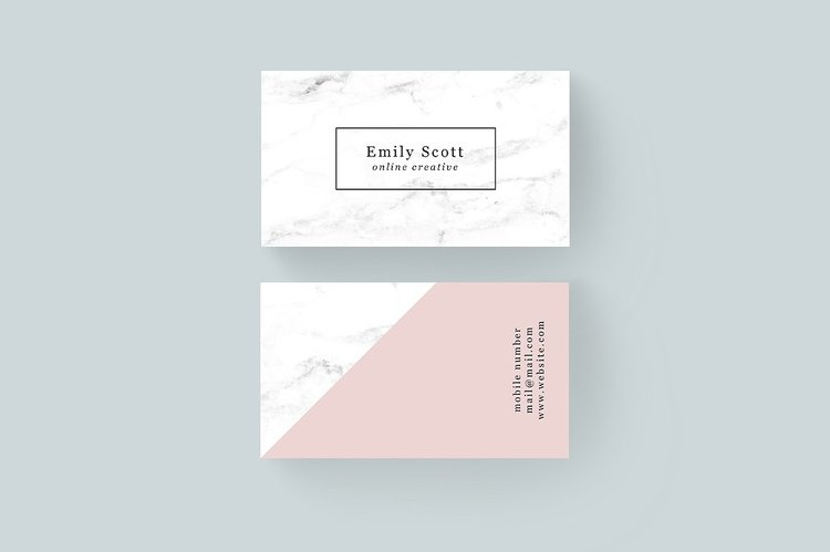 7 of my favorite modern business card templates jen wagner co marble and pink business card template colourmoves
