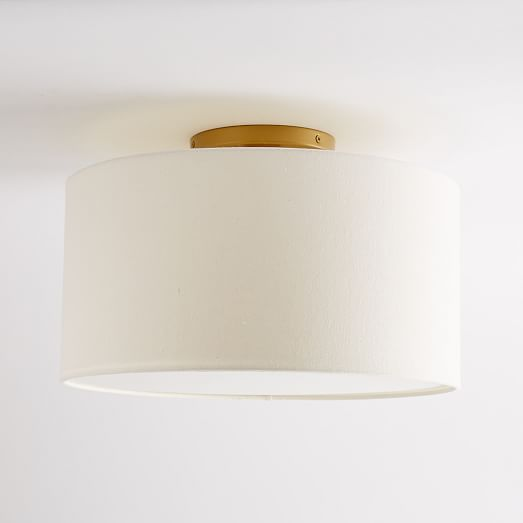 Flush Mount Drum Light from West Elm  - $79 on sale!