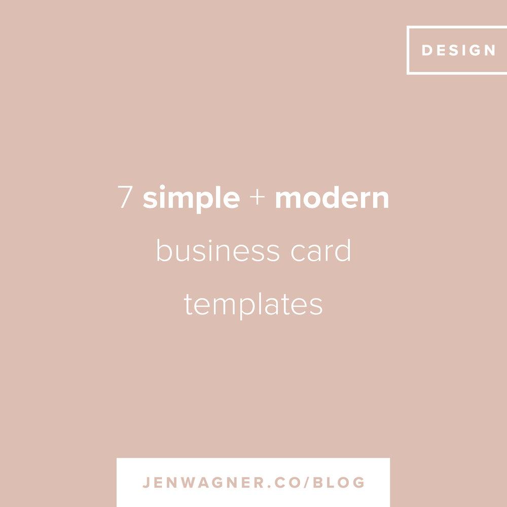 7 of my favorite modern business card templates jen wagner co flashek Gallery