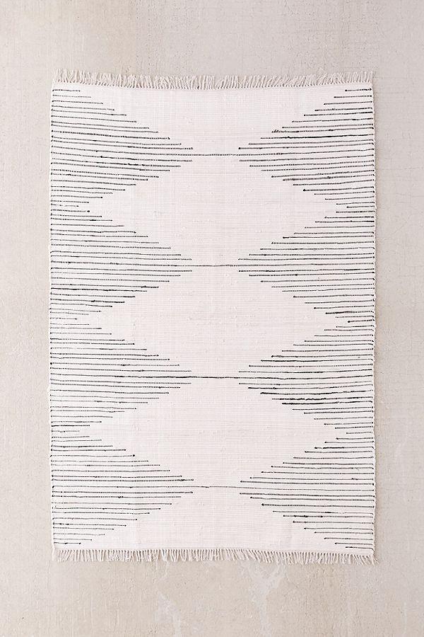urban outfitters minimal woven rug for office