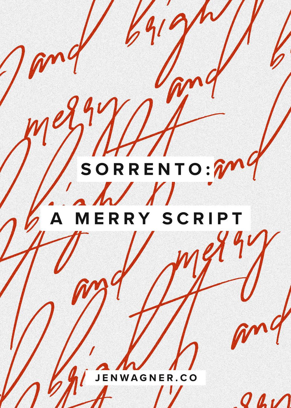 Jen Wagner Co | Sorrento Script