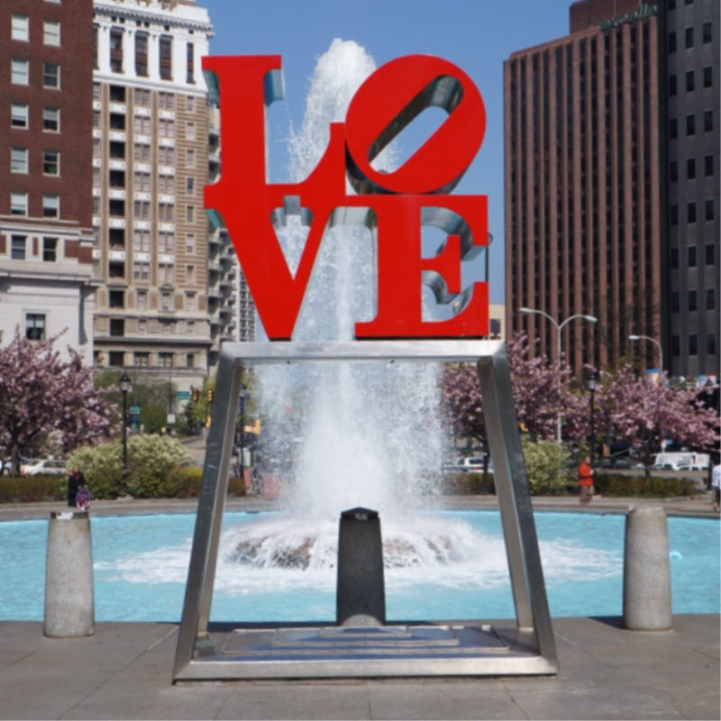 Robert Indiana,  LOVE  (Philadelphia, PA)