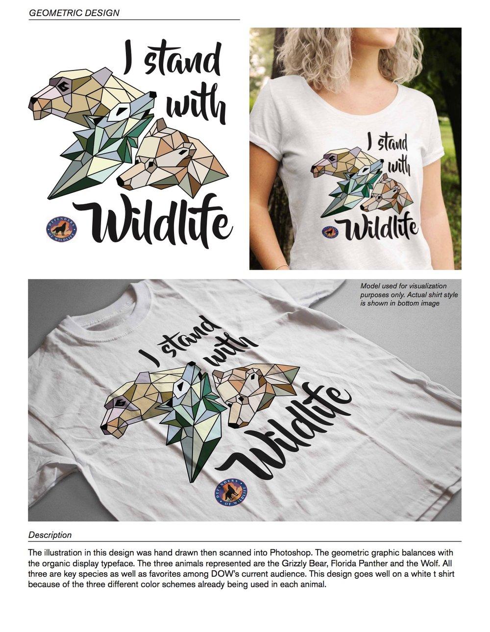 Defenders Of Wildlife T Shirt Design Jessica Rush Design