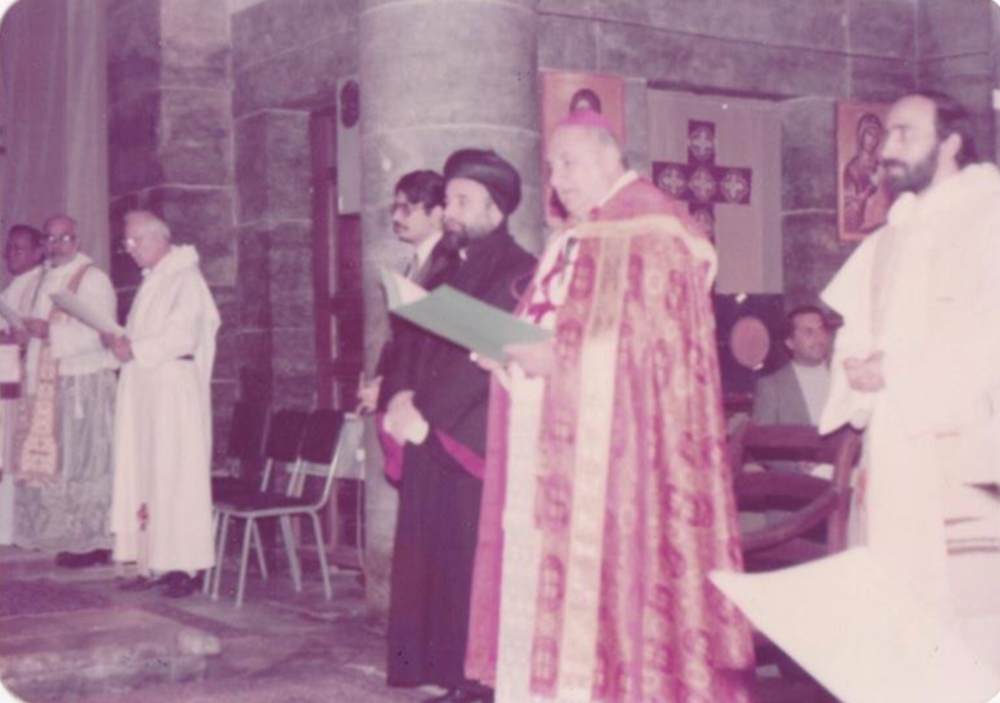 My father in a Christian service in Mosul, Iraq, early 1980s.