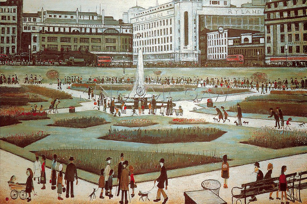 L S Lowry  Piccadilly Gardens 1930