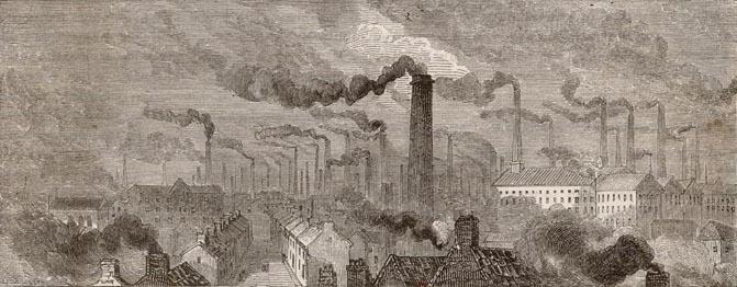 Manchester circa 1865 ©BBC Schools  BBC