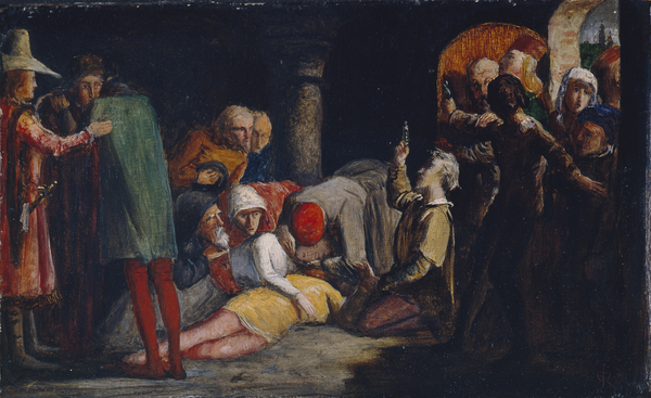 The Death of Romeo and Juliet  (1848) John Everett Millais © Manchester City Galleries   Currently on display in Gallery 7