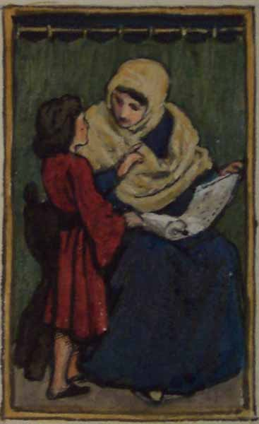 Teacher and Pupil,  John Dawson Watson © Manchester City Galleries
