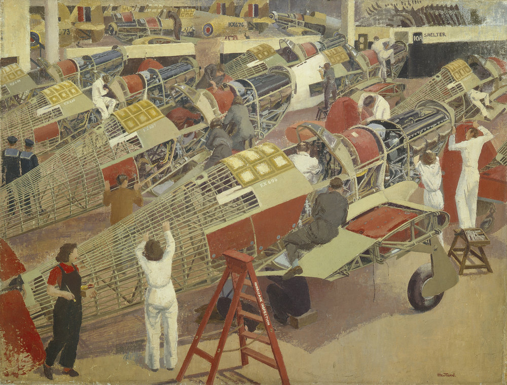 Assembling a Hawker Hurricane   (1940-1947) Elsie Dalton Hewland © Manchester City Galleries