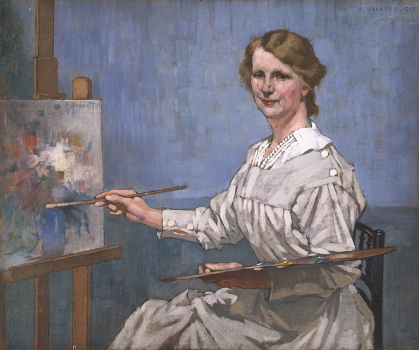 Annie Barnett  (1917)  Adolphe Valette © Manchester City Galleries