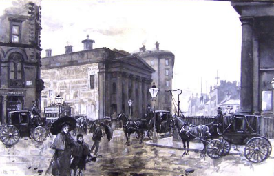 The Gentlemen's Concert Hall , Peter Street by Henry Edward Tidmarch / credit: Manchester City Galleries