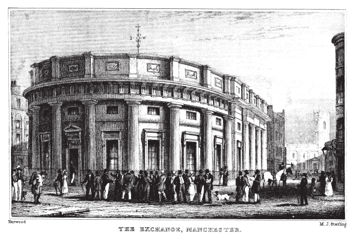 The Exchange. Manchester 1835 / credit: Wikipedia