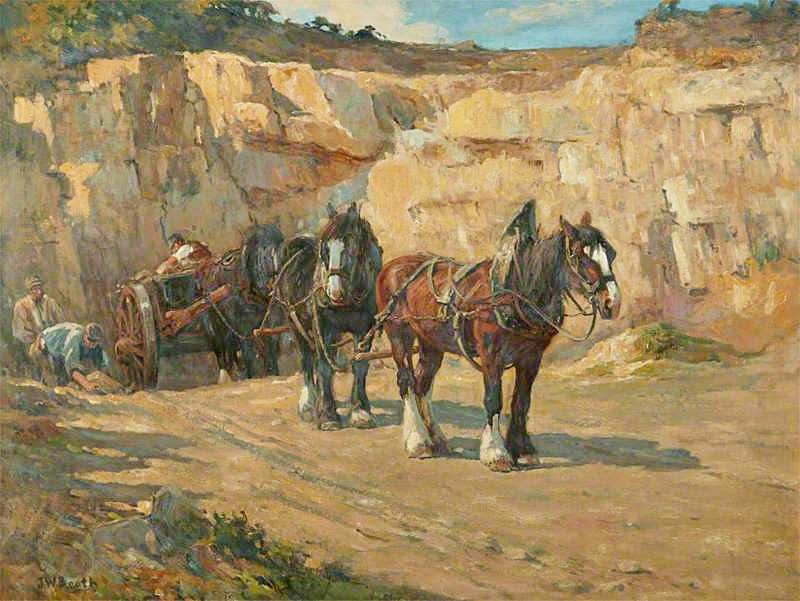 The Quarry  by John William Booth, Manchester City Art Gallery / credit: Art UK